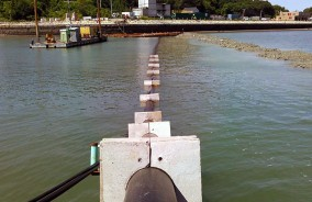 Installing a Utilities Pipeline in Boston Harbor