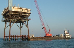 Offshore Structure Repairs in the  Chesapeake Bay